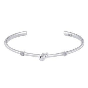 Love Knot Bracelet with White Topaz