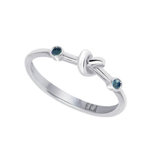Load image into Gallery viewer, Love Knot Ring with Blue Sapphires