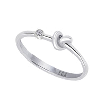 Load image into Gallery viewer, Love Knot Ring With White Diamond