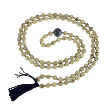 Load image into Gallery viewer, Tulsi Mala with Black Pearl