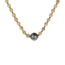 Load image into Gallery viewer, Tulsi Mala With Black Fresh Water Pearl and Diamond -  by  Erica Corte Atelier