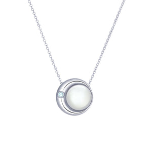 Moon Phase Necklace \ big - long