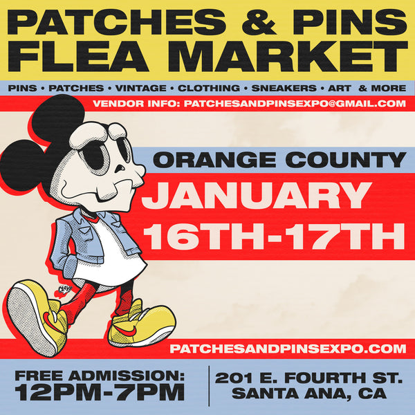 PATCHES AND PINS FLEA MARKET - SANTA ANA