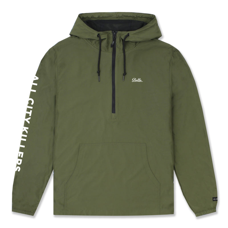 ACK WINDBREAKER ANORAK JACKET - OLIVE