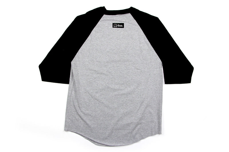 ALL SEEING EYE RAGLAN - ATHLETIC HEATHER/BLACK