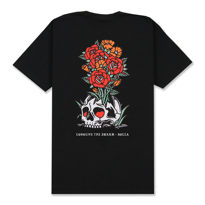 BLOOM T-SHIRT - BLACK (BUILT TO BLOOM)