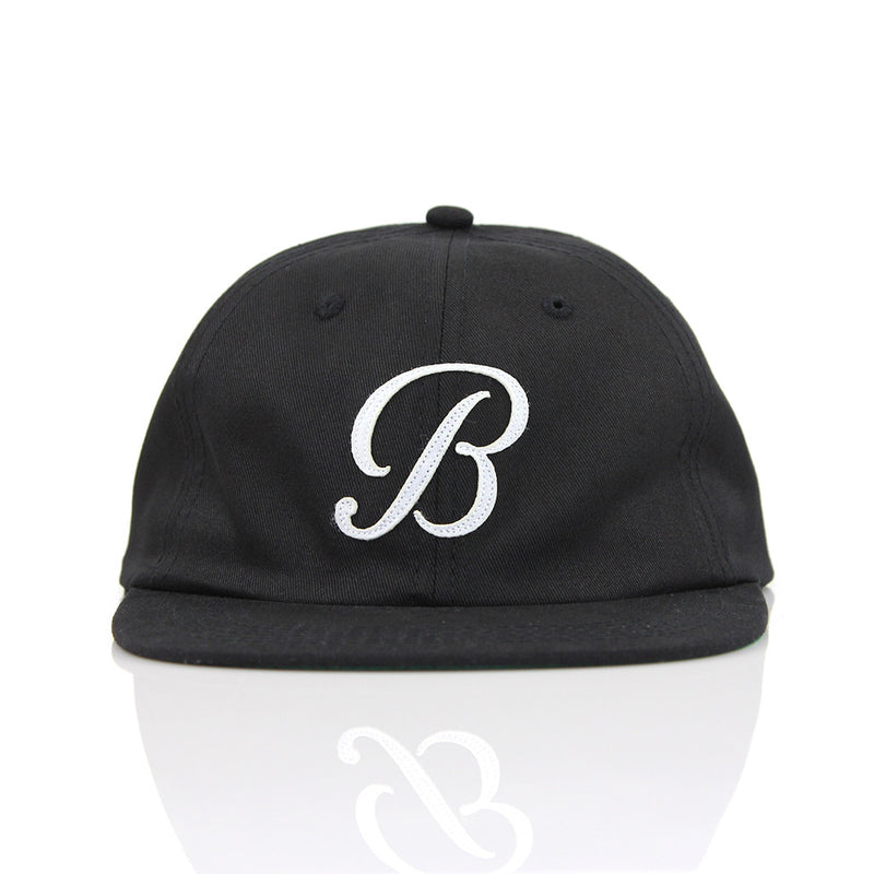 B POLO HAT - BLACK/WHITE