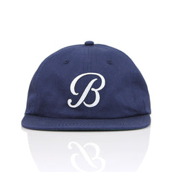 B POLO HAT - NAVY/WHITE