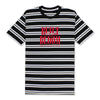 BUILT T-SHIRT - BLACK/WHITE STRIPE (BUILT TO BLOOM)
