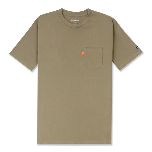 DAILY POCKET T-SHIRT - COFFEE