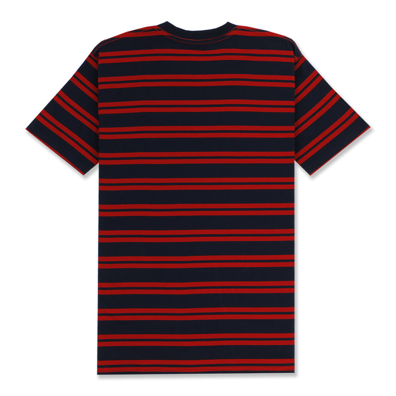 DAILY STRIPE T-SHIRT - NAVY/RED