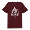 DOWNTOWN T-SHIRT - BURGUNDY
