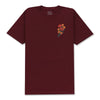 DUALITY T-SHIRT - BURGUNDY (BUILT TO BLOOM)