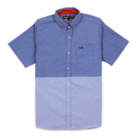 EVERYDAY S/S (TWO-TONE) SHIRT - BLUE
