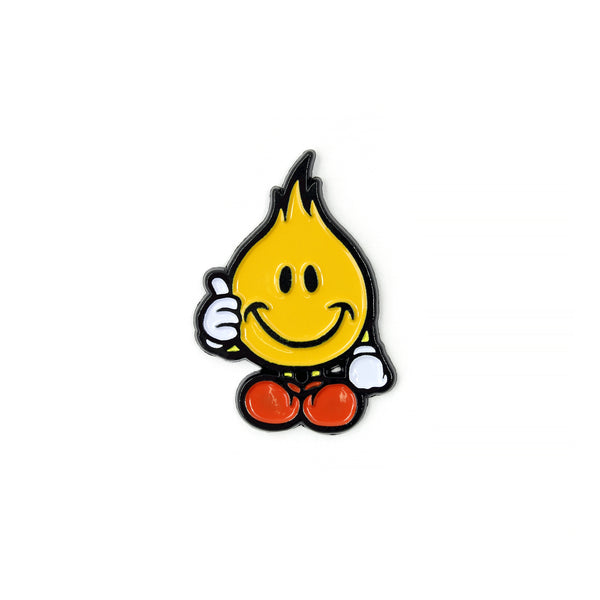 FLAME PIN - YELLOW