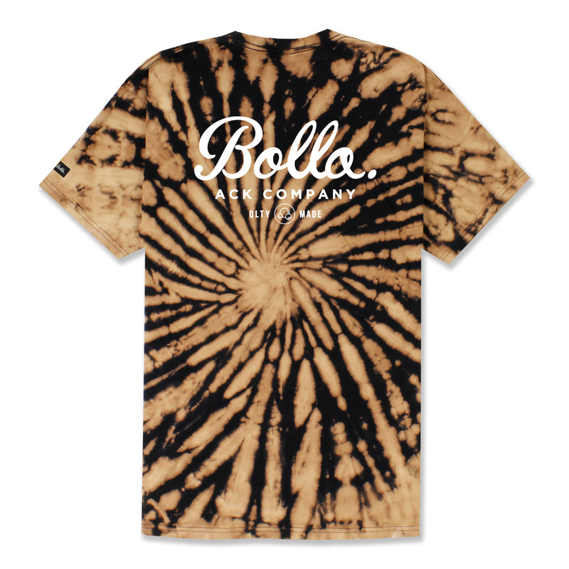INSIGNIA BLEACHED T-SHIRT - BLACK TIE DYE