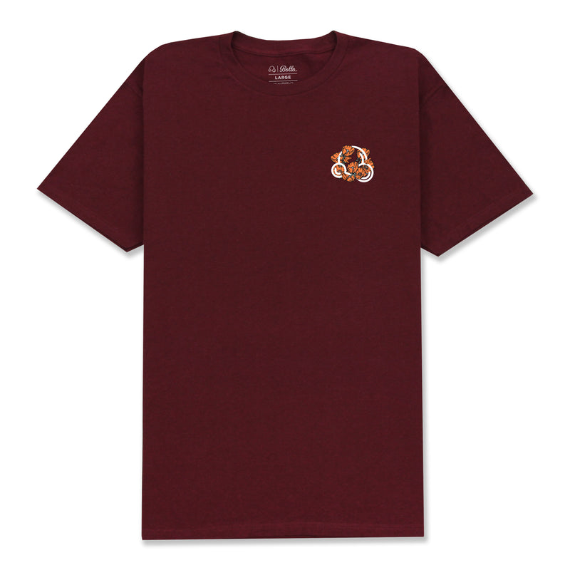 INSIGNIA POPPY T-SHIRT - BURGUNDY