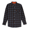 LOMBARD L/S SHIRT - BLACK/ORANGE