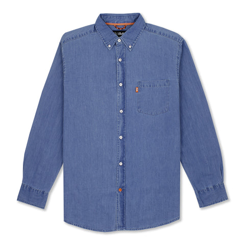 MOORE L/S SHIRT - LIGHT BLUE