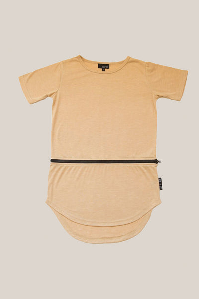 Zippy conversion tee - Caramel
