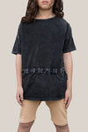 Lace Up Tee - Vintage Black