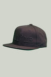 SnapBack Cap - Lil' Mr Noir on Noir logo