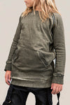 Zipper crew jumper featuring edgey zipper detailing