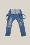 100% stretch cotton distressed denim jeans