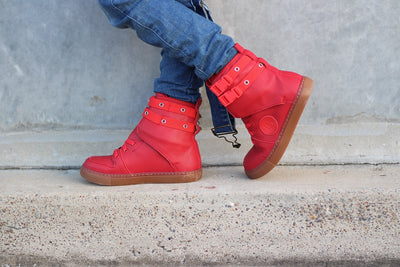 Renegades Hi-Top Shoes - RED
