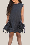 Pick Pocket Dress - Vintage Black Acid Wash