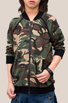 Camo Zipper sports jacket with detachable zips Made from Mid weight 100% cotton terry.