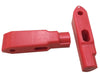 SK99-206-R-DBL - Security DOUBLE Hook Tags - Red - 6mm diameter - SOLD IN PACKS OF 50