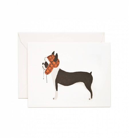 RIFLE PAPER CO - BOSTON TERRIER CARD