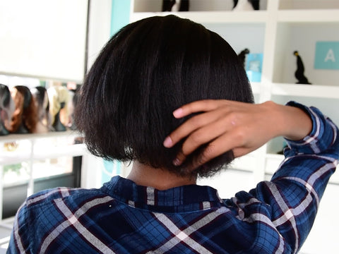 How To Blend Clip In Kinky Straight Hair Extensions With Short Hair A V E R A