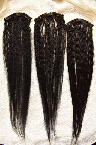 The best way to wash clip in hair extensions remove the hair tie and lay the extensions our flat on a towel to air dry it takes about 6 9 hours for them to dry depending on how thick they are pmusecretfo Image collections