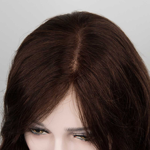 Long Wavy Medium Brown Full Lace Wig