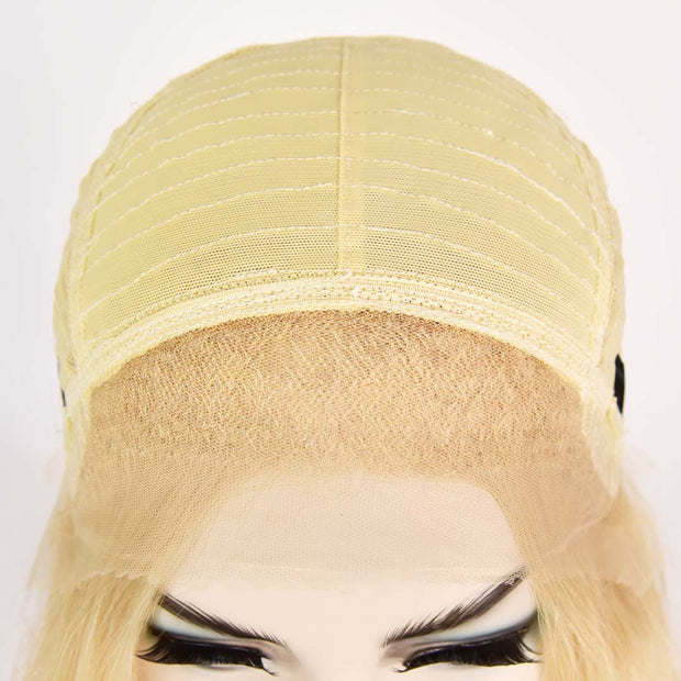AVERA Platinum Blonde Long Wavy Lace Front Wig