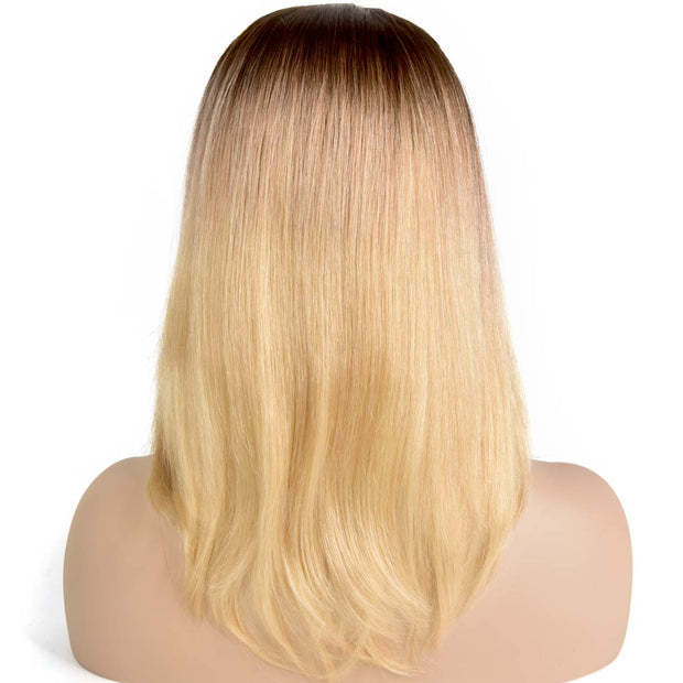AVERA Ombre Blonde Lace Front Human Hair Wig