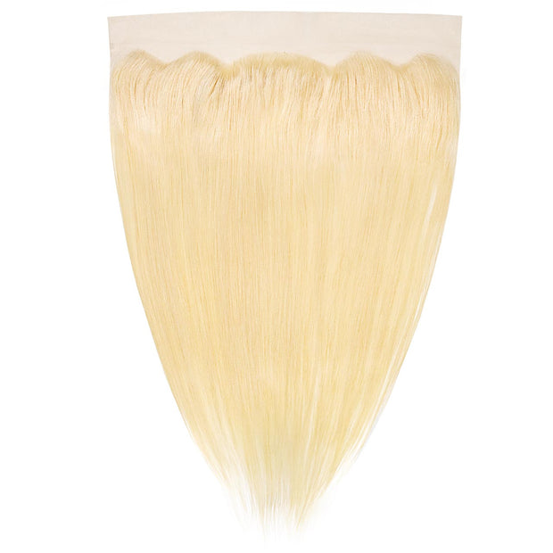 Swiss Lace Human Hair Blonde Frontal