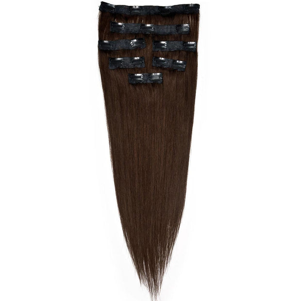 AVERA #2 Dark Brown Clip-In Hair Extension
