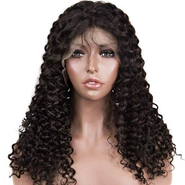 AVERA Virgin Hair Curly Lace Front Wig Water Wave