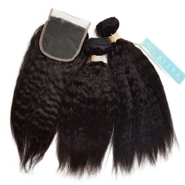 Swiss Lace Virgin Hair Kinky Straight Closure