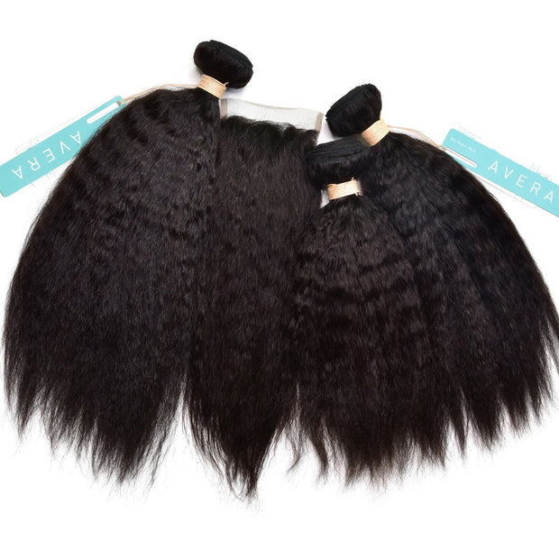 Kinky Straight Bundle Deals | AVERA Virgin Hair Extensions