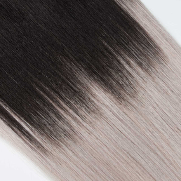 AVERA #1B/601 Black and Silver Ombre Clip-In Hair Extension