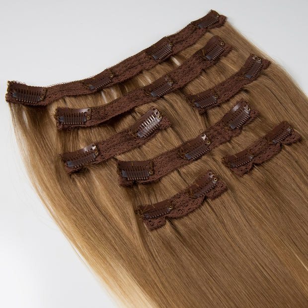 AVERA #8/60 Brown Blonde Ombre Clip-In Hair Extension