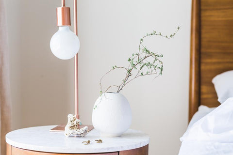 Copper Bedside LED Lamp