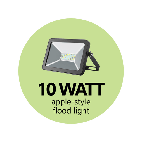10 Watt Apple-Style Flood Light (Black)