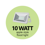 10 Watt Apple-Style Flood Light (White)