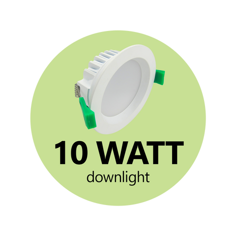 10 Watt Switchable Down Light  - DIMMABLE