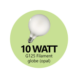 Premium 10 Watt G125 LED Filament Globe (Clear)